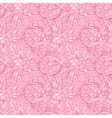 Baroque floral pattern vector image