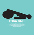 Black Symbol Of A Person Playing On Yoga Ball vector image vector image