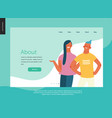 bright people portraits - website template vector image