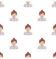 businesswoman icon in cartoon style isolated on vector image vector image
