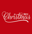 christmas vintage lettering merry xmas on red vector image vector image