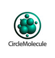 circle molecule logo concept design symbol vector image vector image