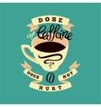 Coffee typographic vintage phrase poster vector image vector image
