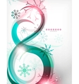 Colorful Christmas swirl abstraction with lights vector image