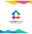 colorful house logo design inspiration vector image vector image