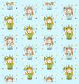 cute cartoon liberty girl seamless pattern vector image vector image