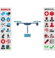 Drone Shipment Icon vector image vector image