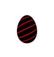 easter egg 3d icon black red egg isolated white