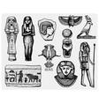 egyptian symbols pharaon scorob hieroglyphics vector image