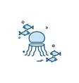 fish icon design vector image