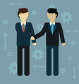 flat modern design businessman shaking hands vector image