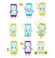 flat set of smartphones with different vector image vector image