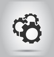 gear icon in flat style cog wheel on white vector image vector image