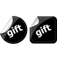 gift black and white web icon button set isolated vector image vector image
