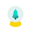 glass ball isometric christmas tree vector image