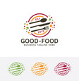 good food logo design vector image vector image