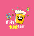 happy beerthday greeting card or print vector image