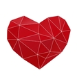 heart low poly vector image vector image