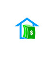 house money logo design element vector image