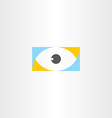 humal eye logo sign element icon vector image