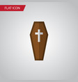 isolated coffin flat icon casket element vector image