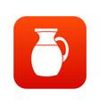 jug of milk icon digital red vector image vector image
