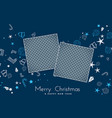 merry christmas background with image space vector image