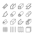 Metallurgy products line icons vector image vector image