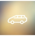 Minivan thin line icon vector image