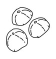 mochi icon doodle hand drawn or outline icon style vector image