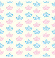 origami paper boats or ships pattern vector image vector image