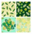 patterns with Tropical leaves vector image vector image