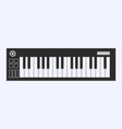 piano or electronic keyboard keys line art icon vector image vector image