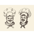 Portrait of happy chef Element for design menu vector image vector image