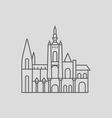 Prague Castle vector image