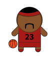 profession character basketball player vector image vector image