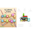 realistic back to school composition vector image