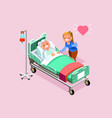 retirement home isometric people vector image