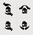 save house icons houses in hands home repair and