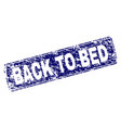 scratched back to bed framed rounded rectangle vector image