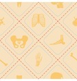 Seamless background with human bones vector image vector image