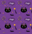 seamless pattern for magic and halloween design vector image vector image