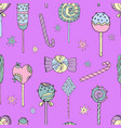 Seamless pattern lollipops