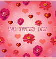 seamless valentines day pattern 3 vector image