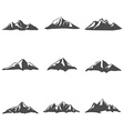 Set nine of Mountain Icons vector image vector image