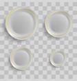 set of ceramic plates vector image