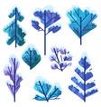 set winter trees vector image