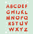 Snowy Christmas Alphabet vector image vector image