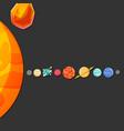 solar system design black background image vector image vector image