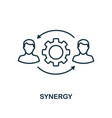 synergy icon outline style thin line creative vector image vector image